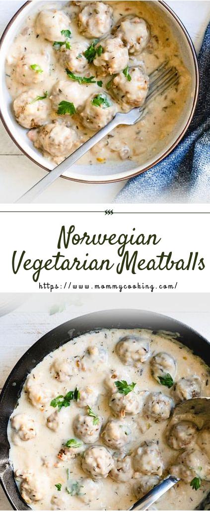 Norwegian Vegetarian Meatballs #Vegetarian #recipe