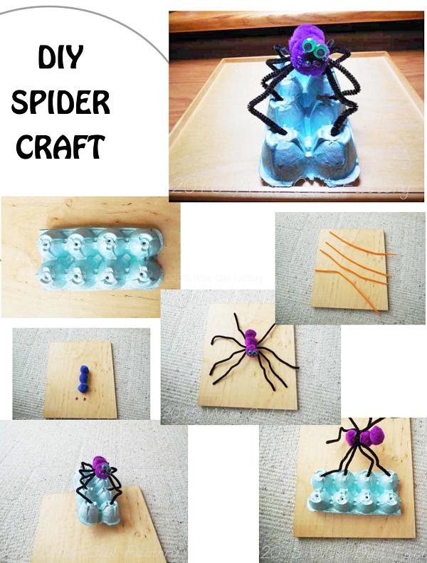 DIY Spider Egg Carton Craft