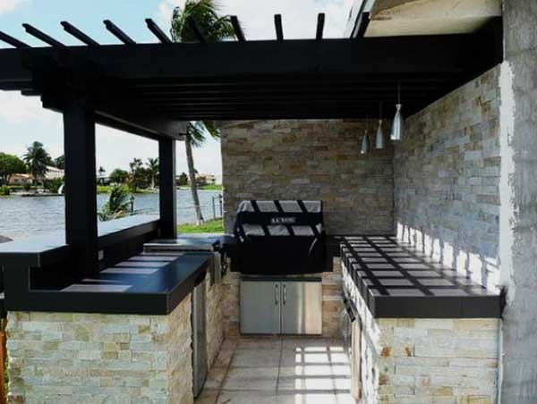 model kanopi untuk dapur terbuka