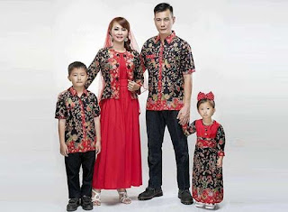 Model baju batik sarimbit modern