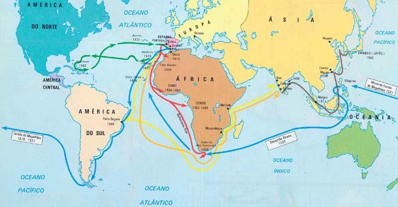 As Grandes Navegações e a Descoberta de Nova Terras