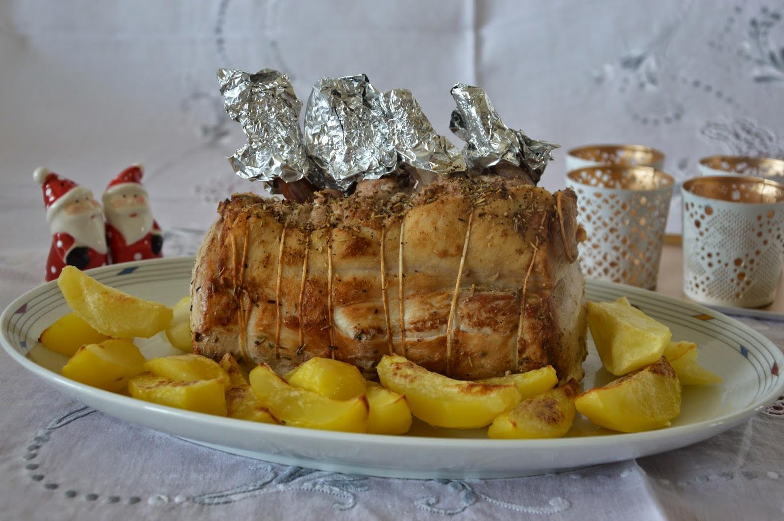 Viaggi arte e cucina arrosto di maiale con contorno di patate for Arrosto maiale