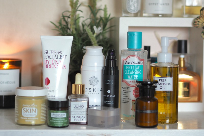laura louise beauty best skincare of 2016 pure potions skin salvation ointment, Antipodes manuka eye cream, Sunday Riley Juno face oil, Super facialist una brennan rose hydrate moisture mask, Oskia renaissance cleansing gel, DHC cleansing oil, Dirty works micellar water, Pestle and mortar superstar retinol night oil, SJAL pearl enzyme exfoliator mask, Dr jackson 02 skin cream