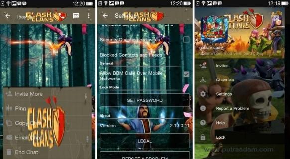 update BBM Mod terbaru. Kali ini tema yang pasti kamu sukai yaitu Clash Of Clans (COC). Game android yang masih nangkring di top download Playstore. Update BBM Mod COC ini mengikuti versi official yaitu 2.12.0.11, biar kamu ga ketinggalan. BBM Mod, BBM Mod Clash Of Clans Download Terbaru, Fitur BBM Mod COC Base 2.12.0.11, Kumpulan BBM Mod Clash Of Clans (COC) Terbaru 2016,  Download BBM Mod Clash Of Clans Update Terbaru 2016, BBM Mod Clash Of Clans,