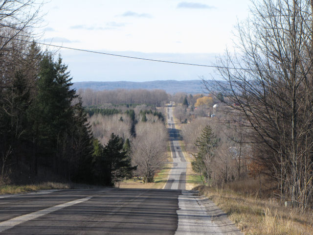 view west from Faylor Road, north of Copemish