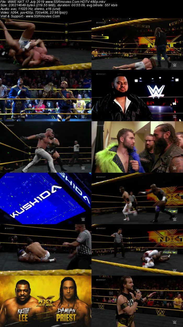 WWE NXT 17 July 2019 HDTV Full Show Download 480p 720p HDTV WEBRip