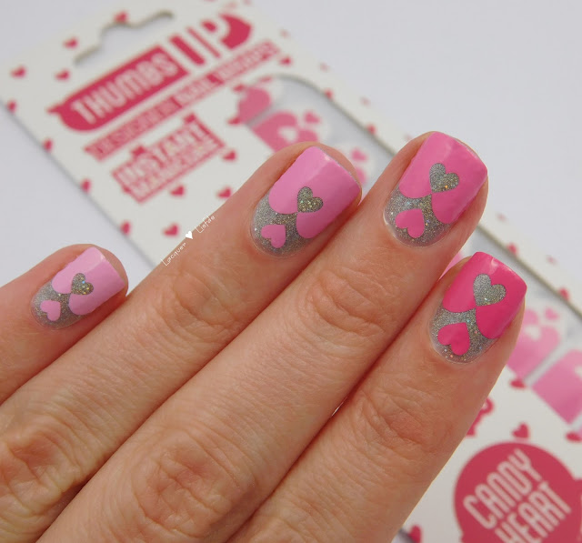 Thumbs Up - Candy Heart Nail Wraps Romance Collection