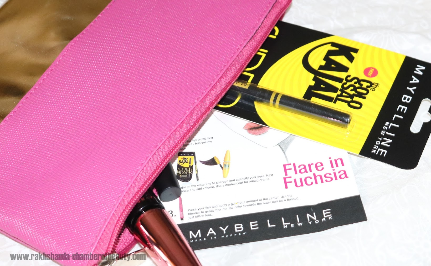 Maybelline New York Fashion Week Make Up Kit - Flare in Fuschia Review, Photos & Price in India