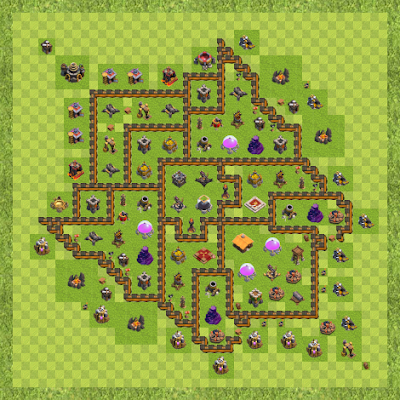 War Base Town Hall Level 10 By Irshad Khan (Irshad TH 10 Layout)
