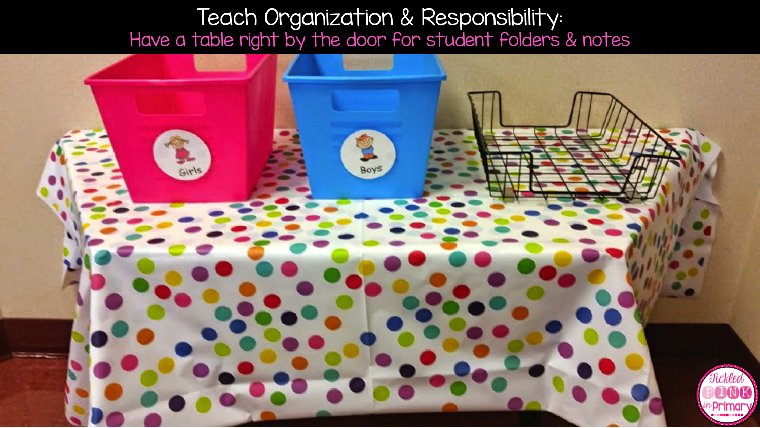 Teach Organization and Responsibility