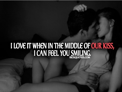 Love Quotes | In Our Kiss You Smiling Couple Love kiss hug fun smile sexy