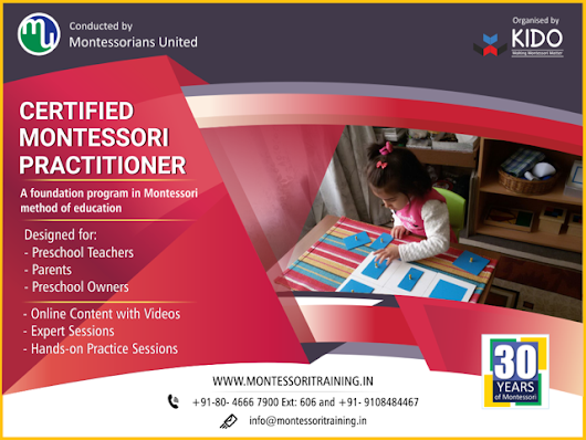 Be a certified Montessori Practitioner with us!