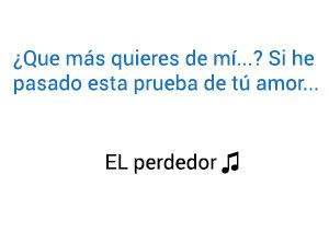 Enrique Iglesias Marco Antonio Solís El Perdedor significado de la canción.