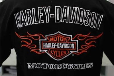 Gambar Bordir Logo Harley Davidson