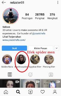 Filter Laba Laba Instagram