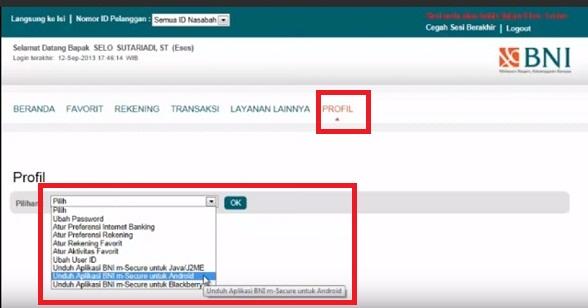 Cara Mendapatkan Aplikasi BNI m-Secure
