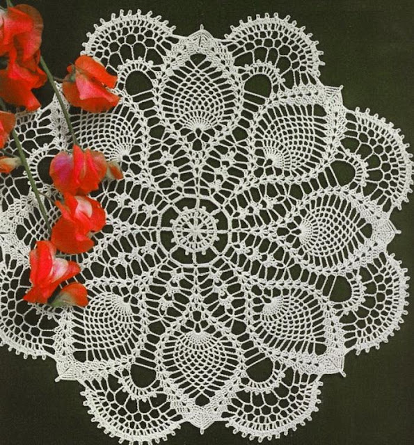 Crochet Doily Pattern, Pineapple Lace