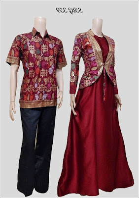 Baju Batik Couple Blouse Modern