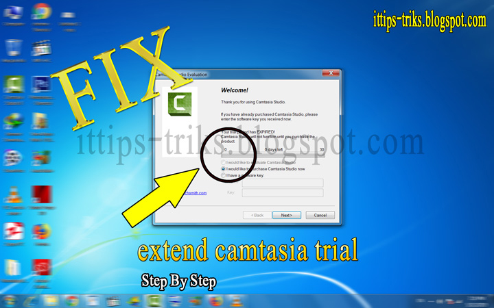How to reset Camtasia Studio Trial - Reset or Extend the