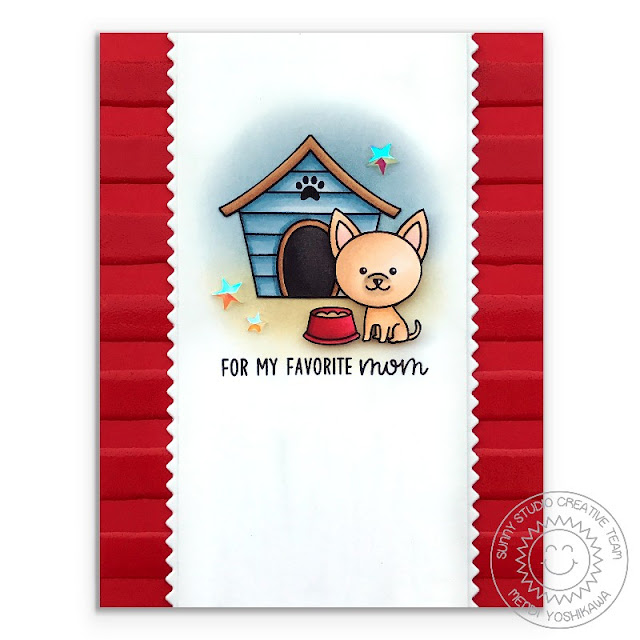Sunny Studio Stamps: Puppy Dog Kisses & Puppy Parents Favorite Mom Chihuahua Card by Mendi Yoshikawa