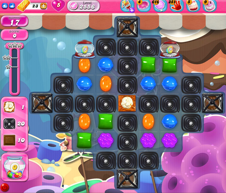 Candy Crush Saga level 2556