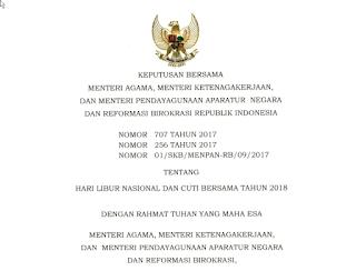 Unduh Download Kalender 2018 Lengkap dengan Libur Nasional dan Cuti Bersama format JPG PDF