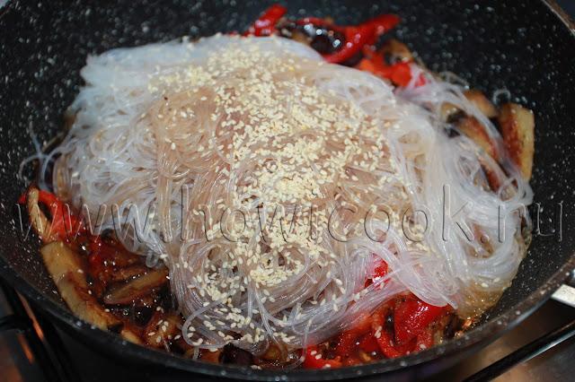 рецепт фунчозы с баклажанами и болгарским перцем с пошаговыми фото