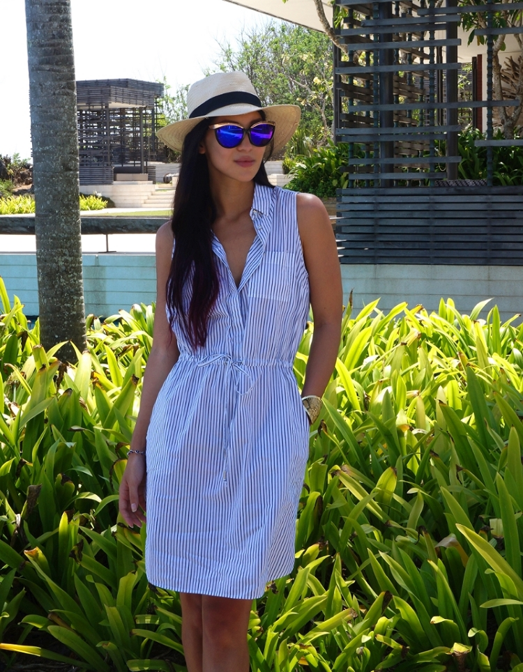 Euriental   fashion & luxury travel   Banana Republic striped dress at Alila Uluwatu