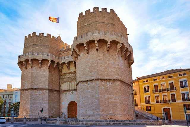 Torres de Serranos em Valencia