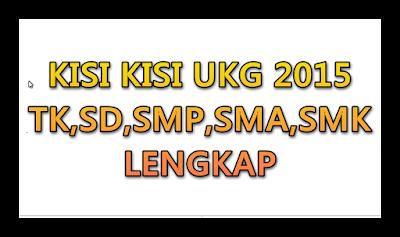 Kisi kisi UKG 2015 Lengkap
