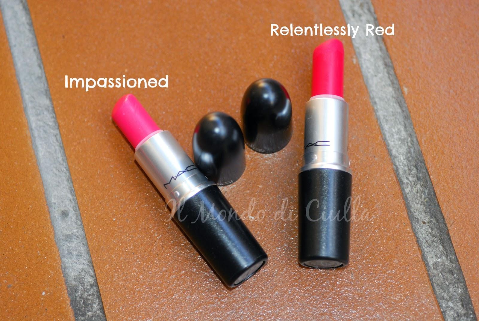 Estremamente Impassioned VS Relentlessly Red by MAC: rossetti a confronto! ~ Il  RU26