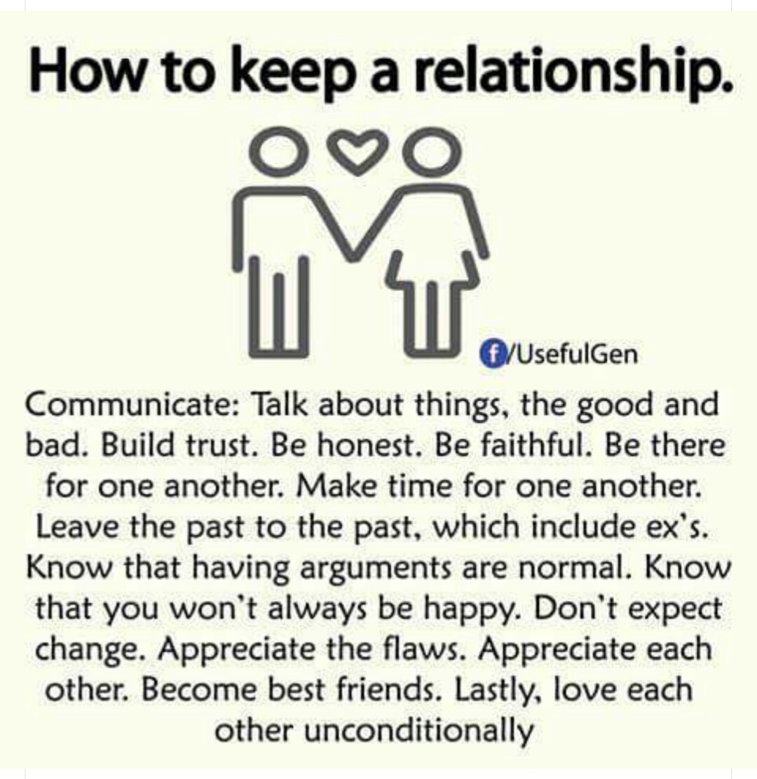 To A Relationship Keep How Good
