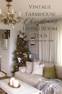 vintage christmas living room tour