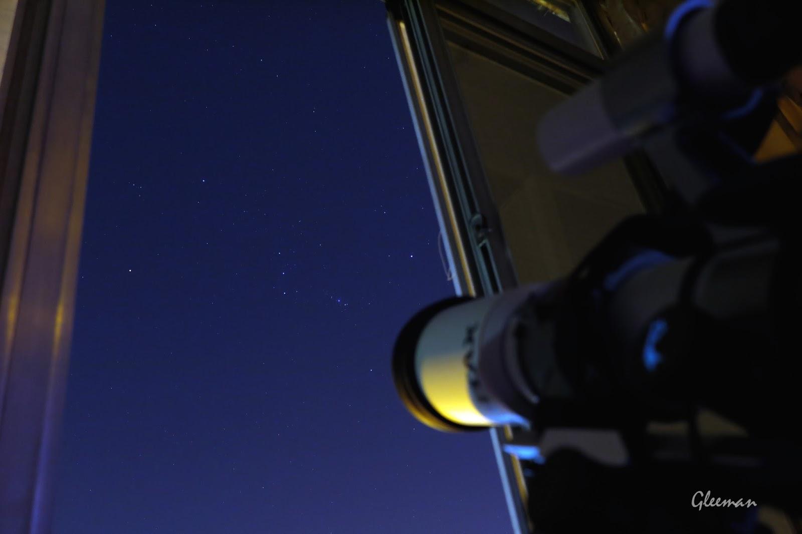 這幾天陽台外的獵戶座特別清楚。