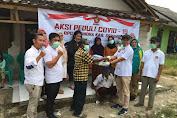 Cegah Covid-19, Partai Gerindra Lakukan Penyemprotan Disinfektan di Serang