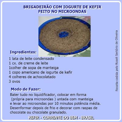 BRBRIGADEIRÃO COM IOGURTE DE KEFIR FEITO NO MICROONDAS