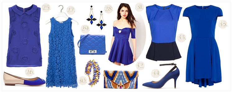 shopping klein blue