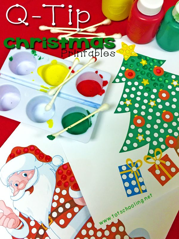 http://www.totschooling.net/2014/12/christmas-q-tip-painting-printables.html