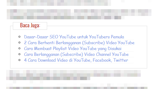 Cara Pasang Related Post di tengah Postingan Blog - SEO Kraken