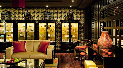 Koi Chinoiserie Wallpaper at the Buddha Bar, B/Attitude Spa, Dubai
