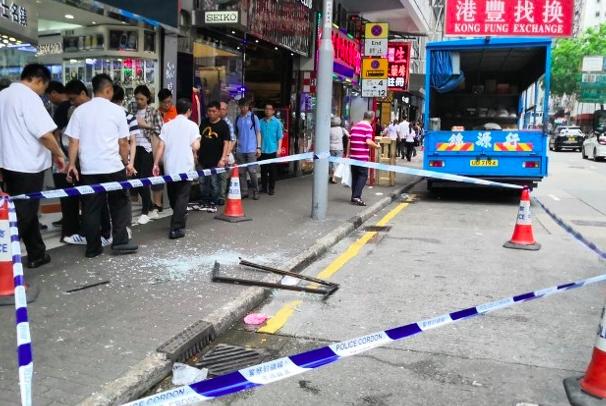 Jendela Jatuh dari Ketinggian di Wan Chai