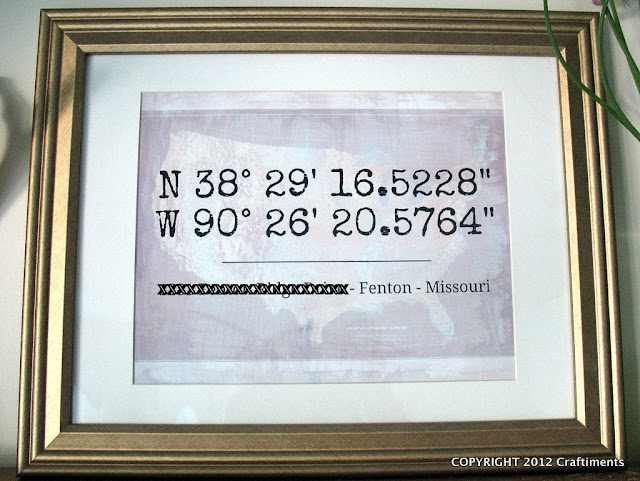 Craftiments.com:  Latitude and Longitude Artwork