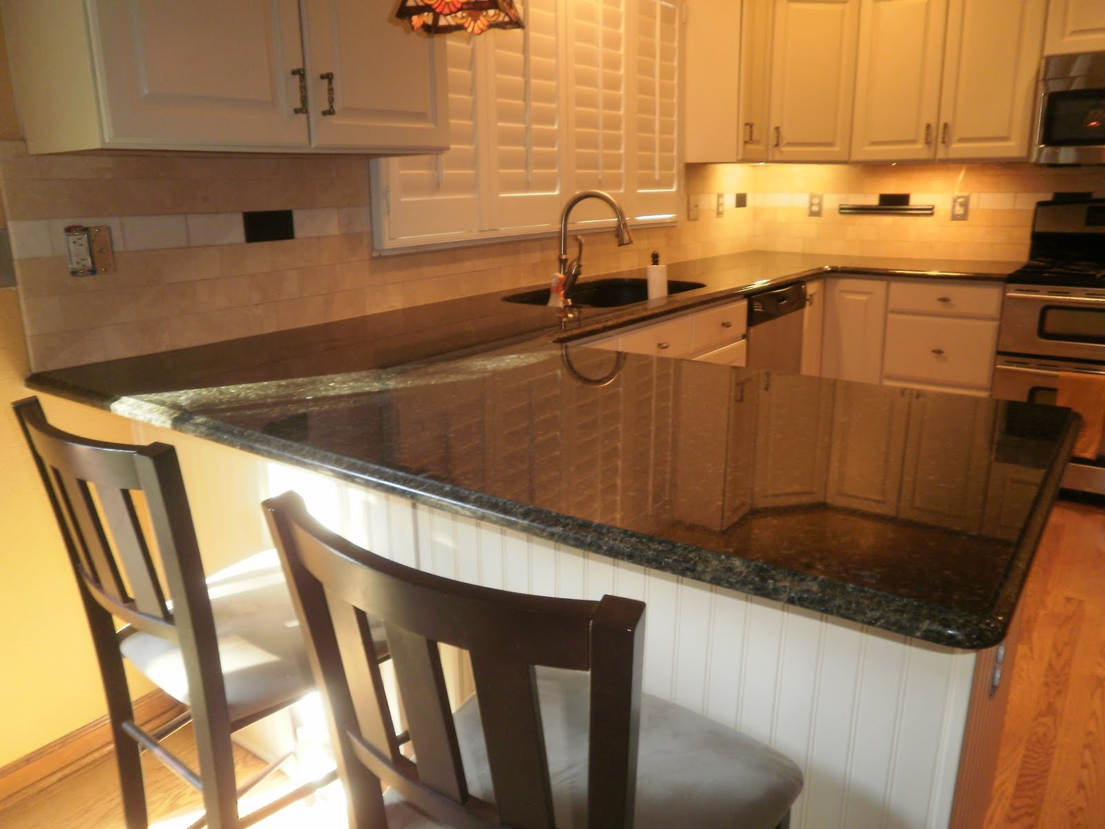 Backsplash With Uba Tuba Granite Countertop Integrity Installations A Division Of Front