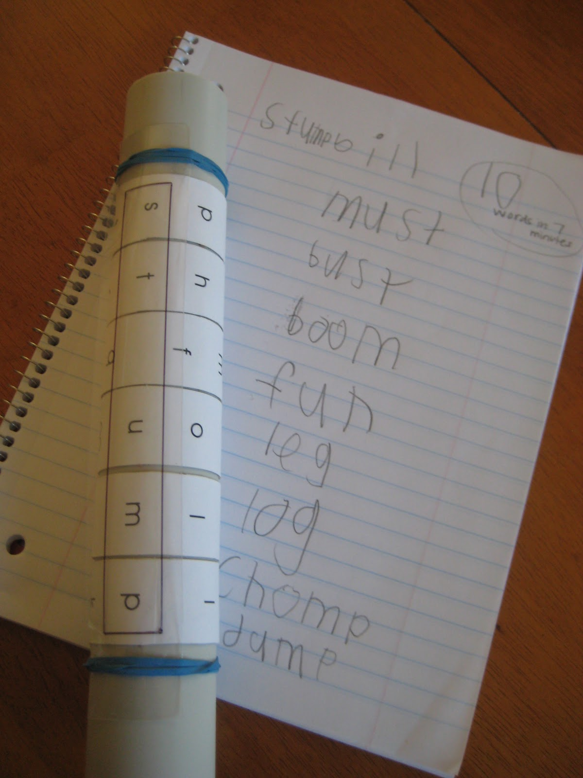 "Next time we ""play""with the Twist-a-Letter Word Maker, my son can ..."