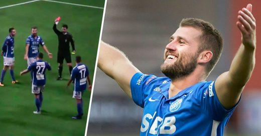 Jugador sueco se aplaude a sí mismo y lo expulsan