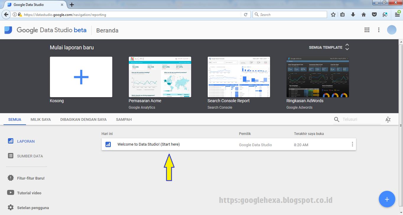 Cara Baru Memvisualisasikan Laporan Web Melalui Google Data Studio