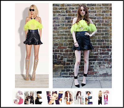 Black, Bright, Hem Detail, Lime, Made In Chelsea, MIC, Neon, Playsuit, Rosie Fortescue, Strap Detail, Three Floor, Yellow,