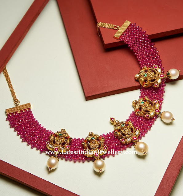 Nakshi Ruby Fusion Necklace