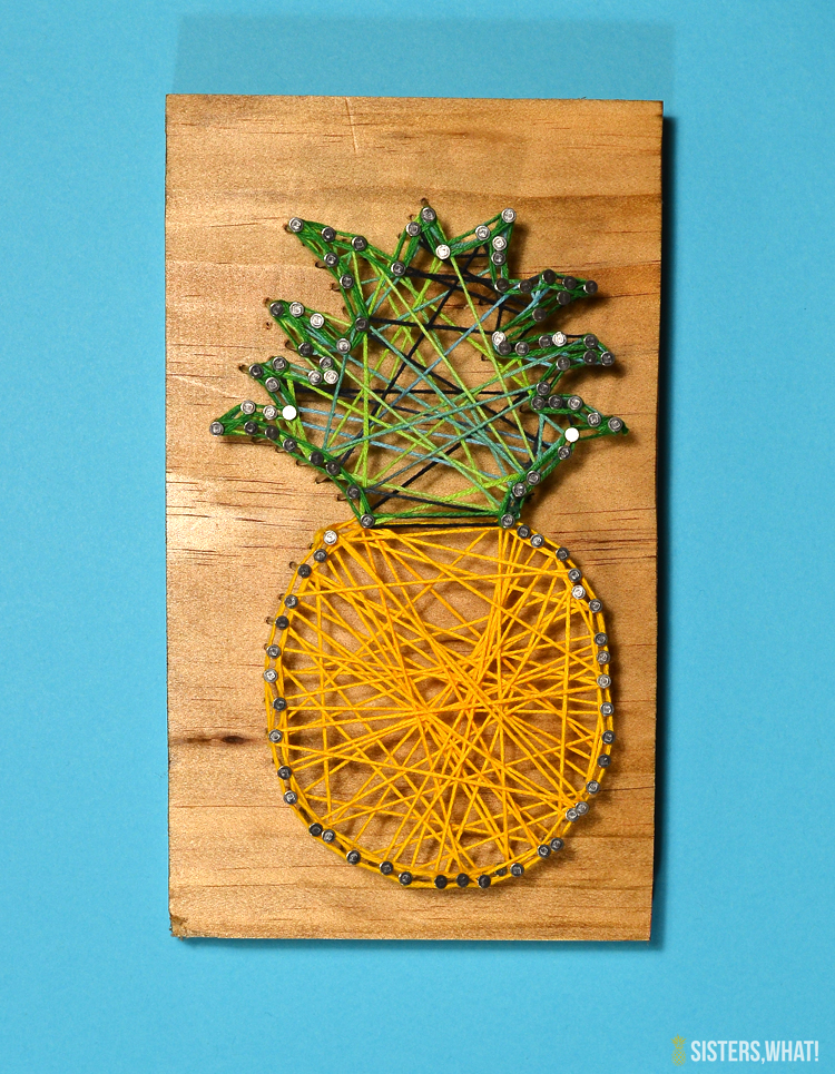 Pineapple string art tutorial