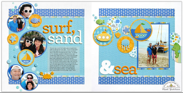 Doodlebug Anchors Away 2-page Layout by Mendi Yoshikawa